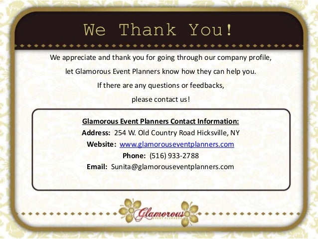 Glamorous Event Planners Company Profile – Write Company Profile Template