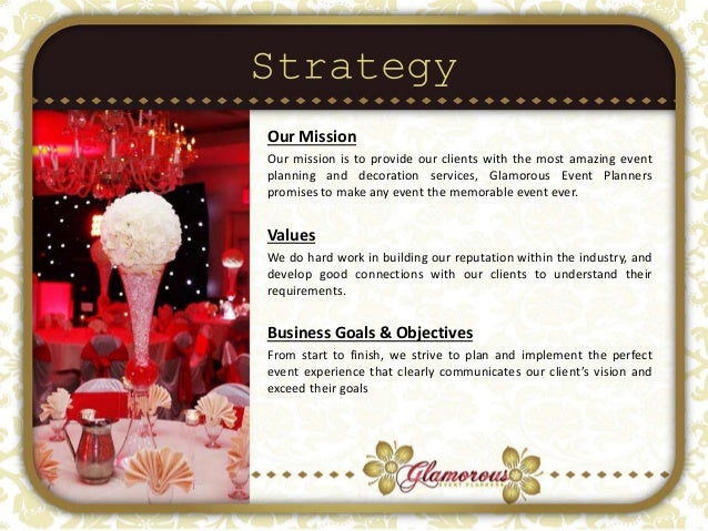 Event planner vision statement