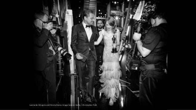 Leonardo DiCaprio and Emma Stone. Image Source: Getty / Christopher Polk