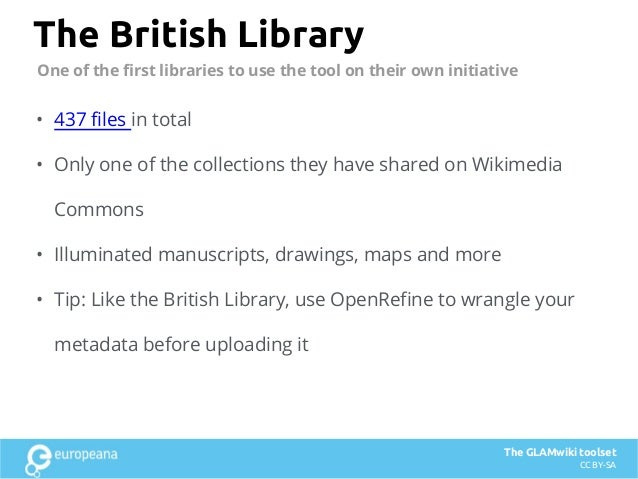 The British Library • 437 files in total • Only one of the collections they have shared on Wikimedia Commons • Illuminated...
