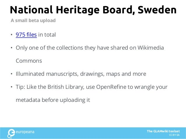 National Heritage Board, Sweden • 975 files in total • Only one of the collections they have shared on Wikimedia Commons •...
