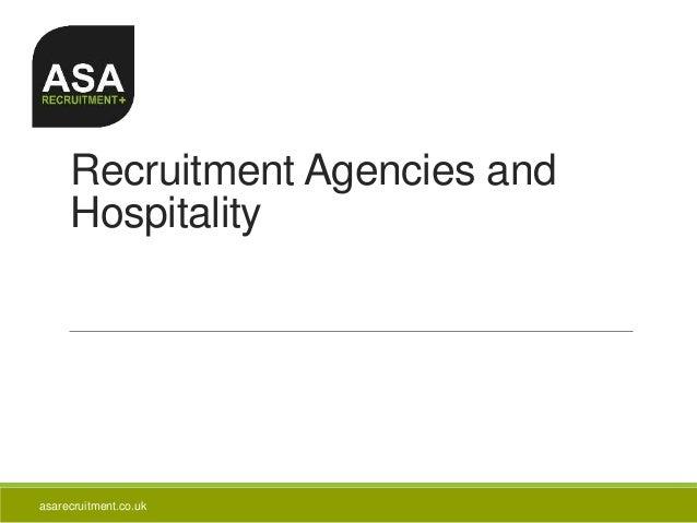 Recruitment Agencies and Hospitality asarecruitment.co.uk