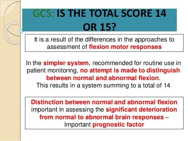 Glasgow Coma Scale Presentation