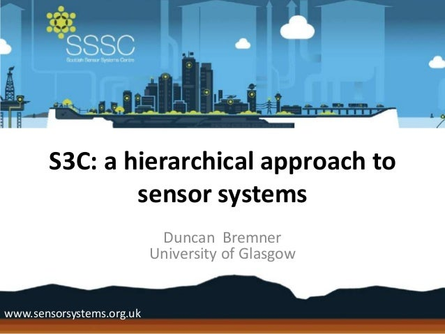 S3C: a hierarchical approach to               sensor systems                            Duncan Bremner                    ...