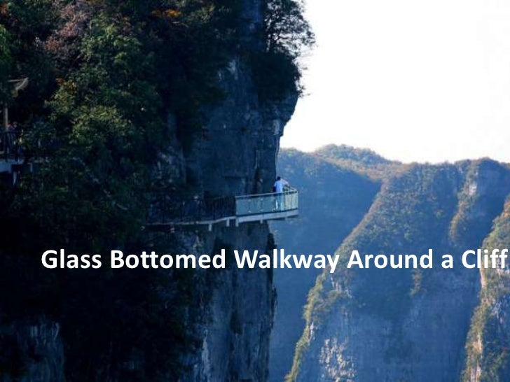 Glass Bottomed Walkway Around a Cliff