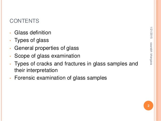 Glass analysis Slide 2