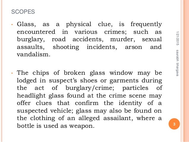 Glass analysis Slide 3