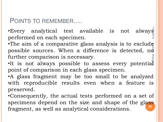 POINTS TO REMEMBER…. 1/21/2015 41 saurabhbhargava •Every analytical test available is not always performed on each specime...