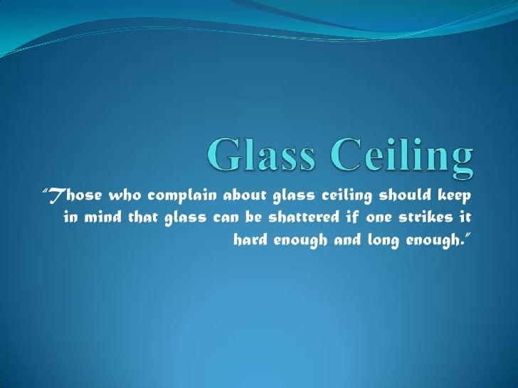 the glass ceiling essay