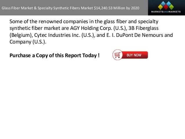 Glass Fiber Market U0026 Specialty Synthetic ...