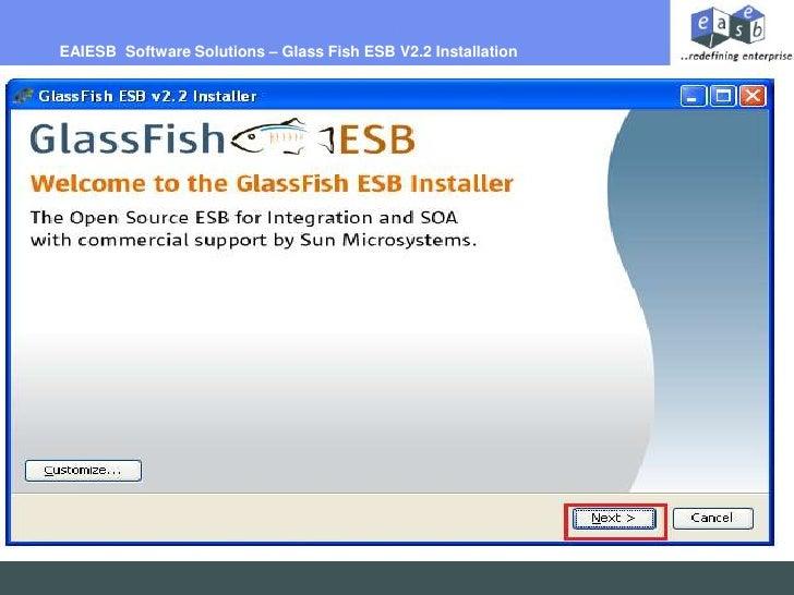 EAIESB  Software Solutions – Glass Fish ESB V2.2 Installation <br />