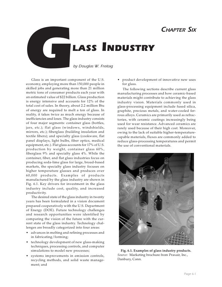 Glass industry process
