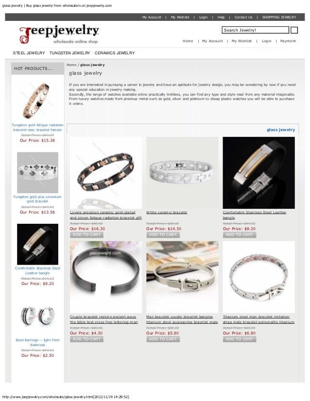 glass jewelry | Buy glass jewelry from wholesalers on jeepjewelry.com                                                     ...