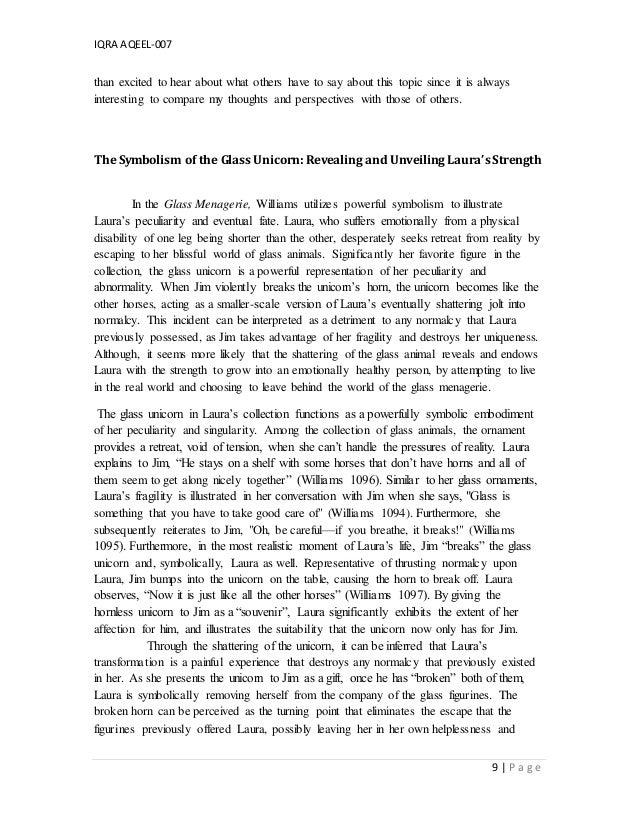 glass menagerie essay