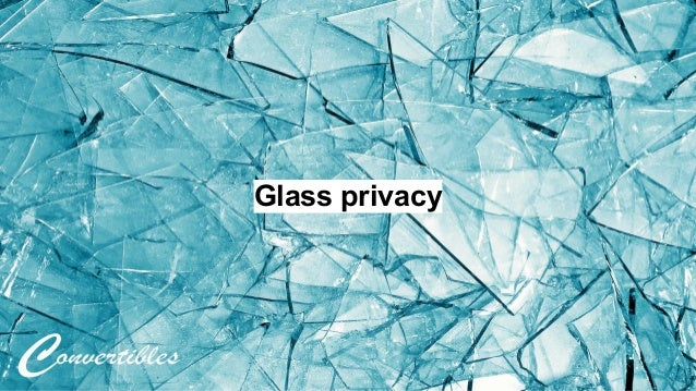 Glass privacy