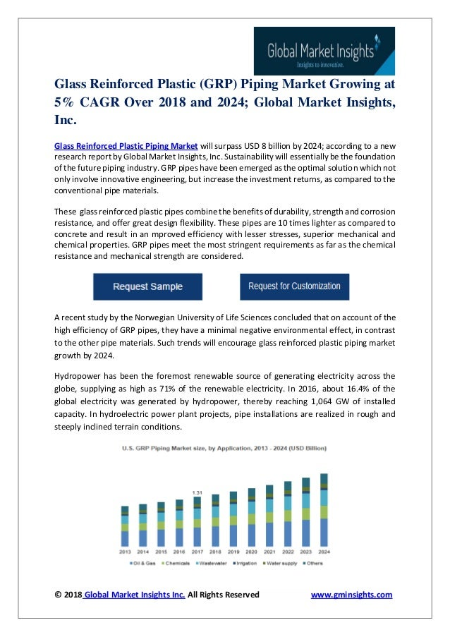 Glass reinforced plastic (grp) piping market growing at 5% cagr over …