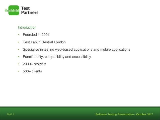 GLA Testing Presentation by Test Partners Ltd v1 Slide 2
