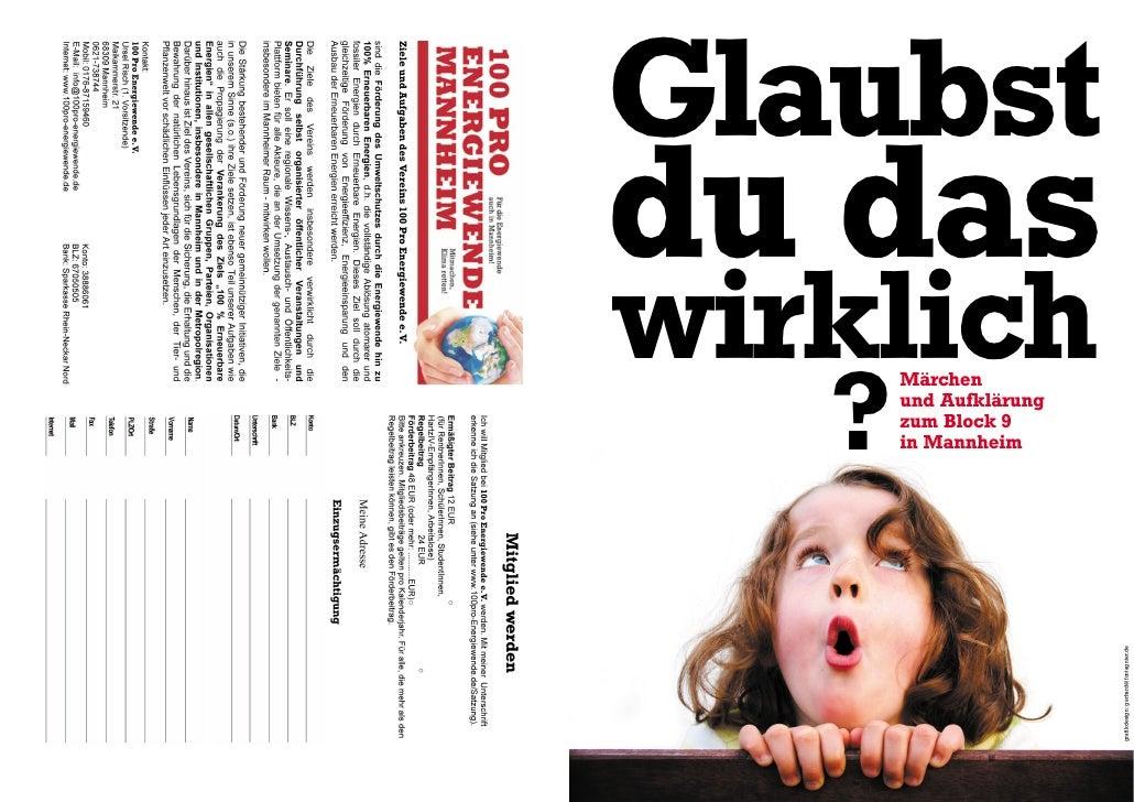 Glaubst du das wirklich    ?        Märchen        und Aufklärung        zum Block 9        in Mannheim                   ...
