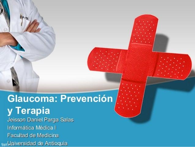 Glaucoma: Prevención y Terapia Jeisson Daniel Parga SalasJeisson Daniel Parga Salas Informática Médica IInformática Médica...