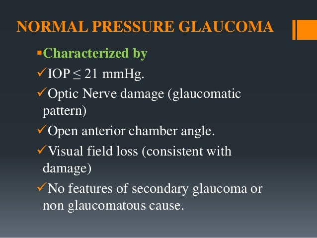 Glaucoma Suspects And Normal Pressure Glaucoma