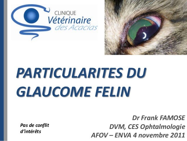 PARTICULARITES DUGLAUCOME FELIN                             Dr Frank FAMOSEPas de conflit        DVM, CES Ophtalmologied'i...