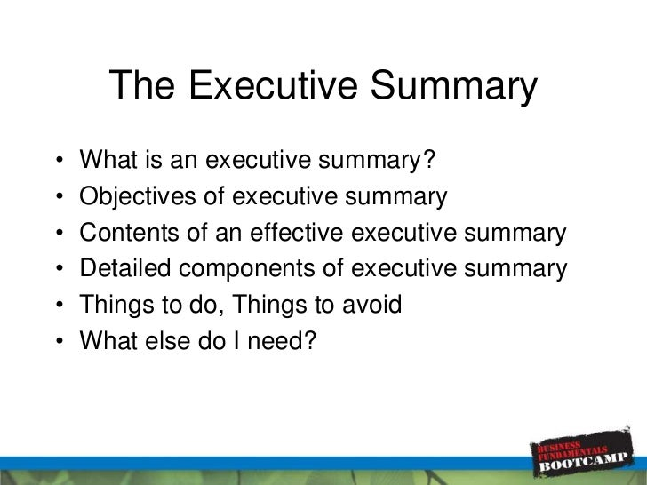 Affordable Price write business plan executive summary – Executive Summary Outline Template