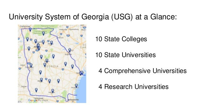 Map Of Georgia Universities.Faculty Status Of Librarians In Georgia A Snapshot