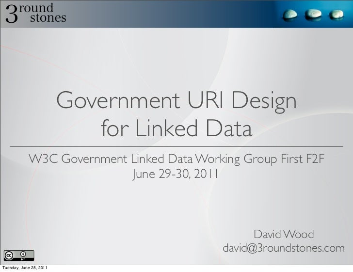 Government URI Design                            for Linked Data            W3C Government Linked Data Working Group First...