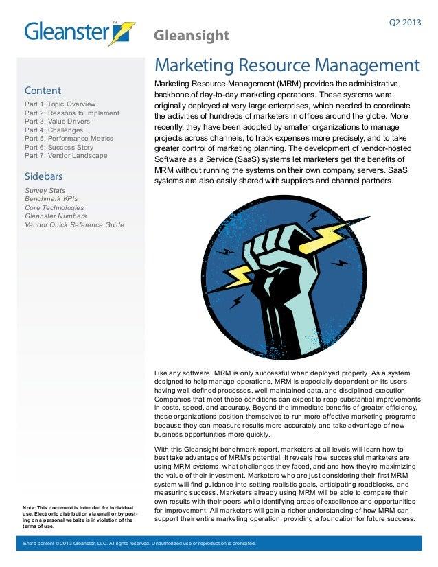 f8e87476e29 Marketing Resource Management Benchmark Report 2012