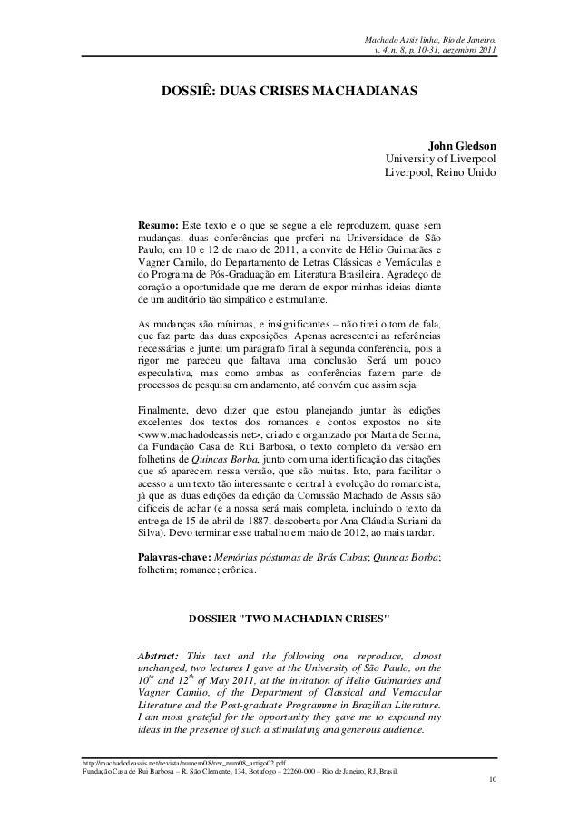 Machado Assis linha, Rio de Janeiro. v. 4, n. 8, p. 10-31, dezembro 2011 http://machadodeassis.net/revista/numero08/rev_nu...