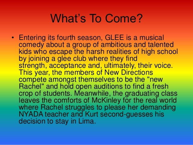 All The Facts• Since its debut, GLEE has become a bona fide  cultural phenomenon, received prestigious honors  including t...