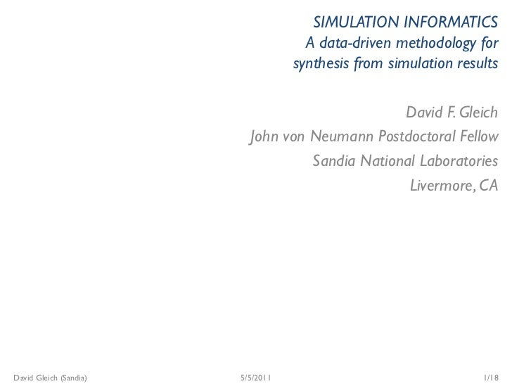 SIMULATION INFORMATICS                                     A data-driven methodology for                                  ...