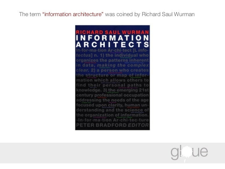 """The term  """"information architecture""""  was coined by Richard Saul Wurman"""