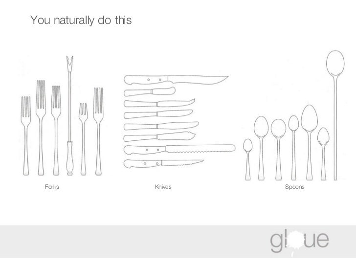 You naturally do this Forks Knives Spoons