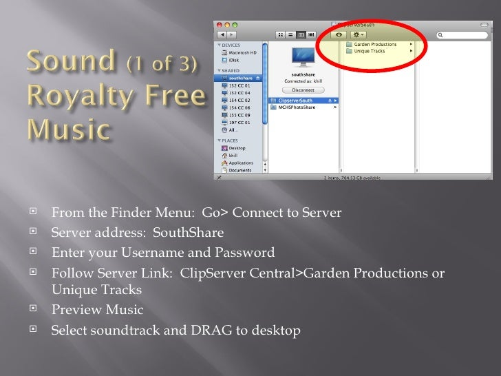    From the Finder Menu: Go> Connect to Server   Server address: SouthShare   Enter your Username and Password   Follo...
