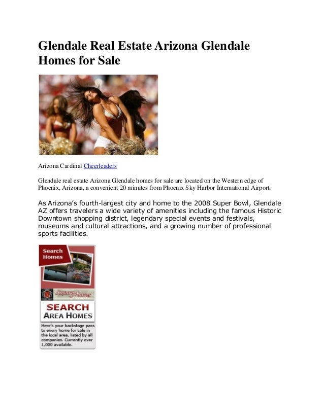 Glendale Real Estate Arizona Glendale Homes for Sale Arizona Cardinal Cheerleaders Glendale real estate Arizona Glendale h...