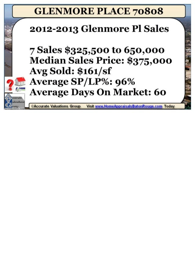 Glenmore Place Subdivision Home Prices Baton Rouge 70808
