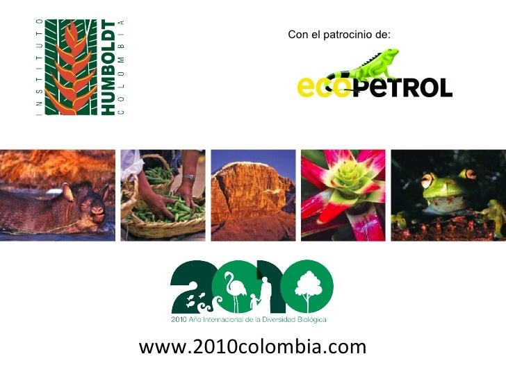 www.2010colombia.com Con el patrocinio de: