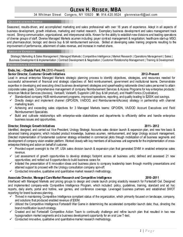 Glenn Reiser MBA Resume – Mba Resume