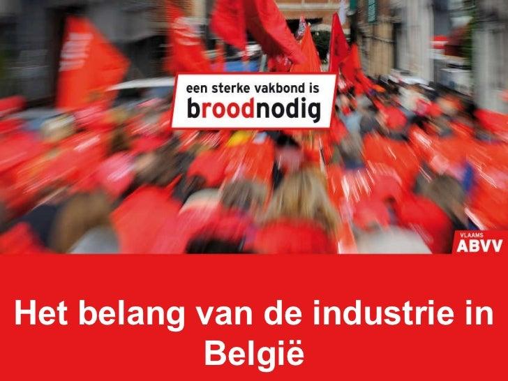 Het belang van de industrie in België