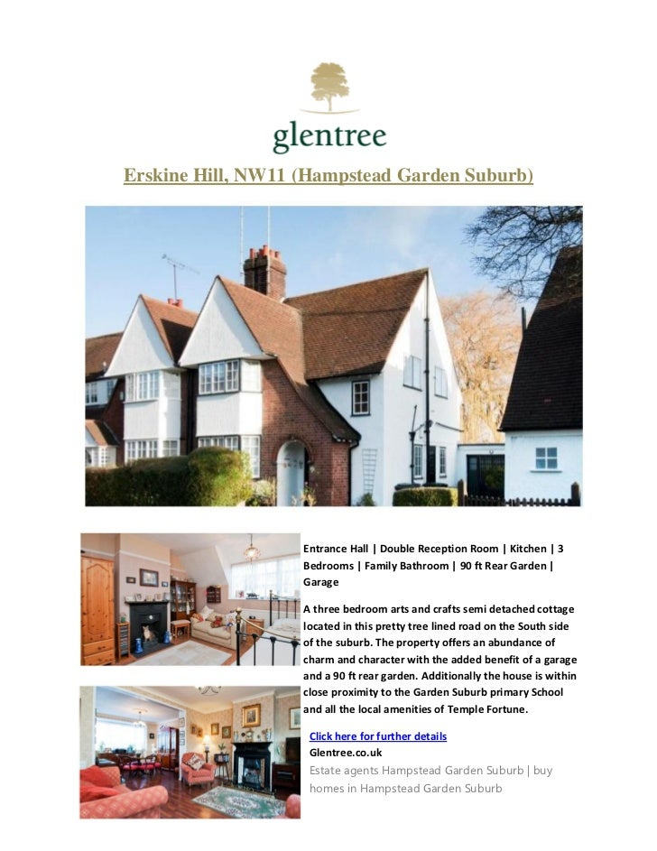 Erskine Hill, NW11 (Hampstead Garden Suburb)                   Entrance Hall | Double Reception Room | Kitchen | 3        ...