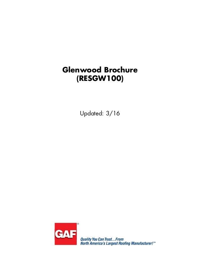 Glenwood Brochure (RESGW100) Updated: 3/16