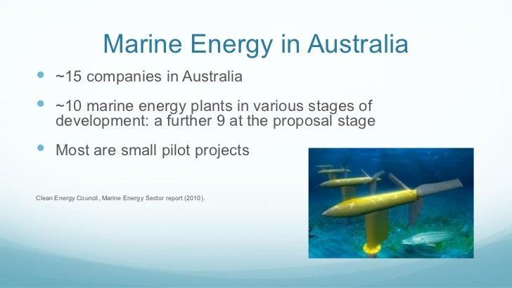 Marine Energy In Australia And New Zealand Regulatory