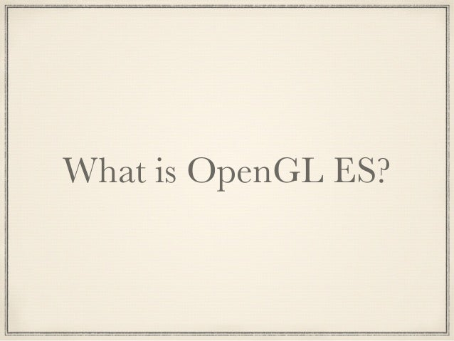 OpenGL Driver Support