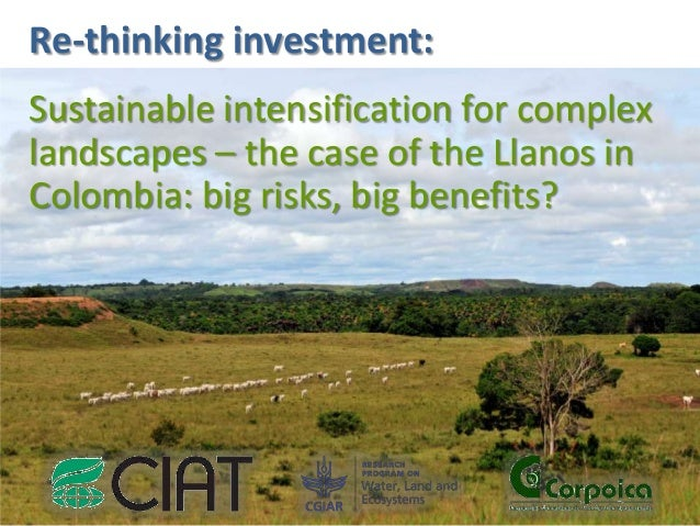 Re-thinking investment: Sustainable intensification for complex landscapes – the case of the Llanos in Colombia: big risks...