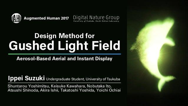 Ippei Suzuki Undergraduate Student, University of Tsukuba Shuntarou Yoshimitsu, Keisuke Kawahara, Nobutaka Ito, Atsushi Sh...