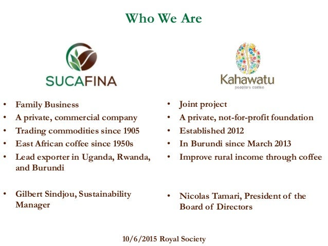 sustainable coffee in burundi what can private and private resources