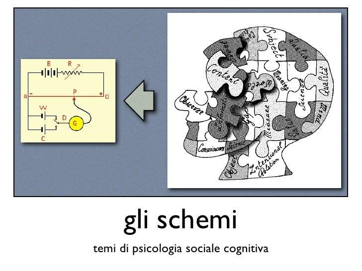 gli schemi temi di psicologia sociale cognitiva