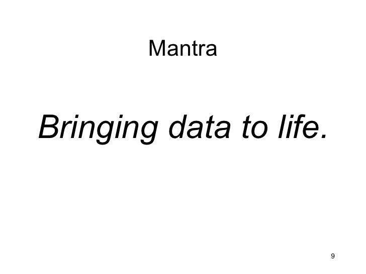 MantraBringing data to life.                         9