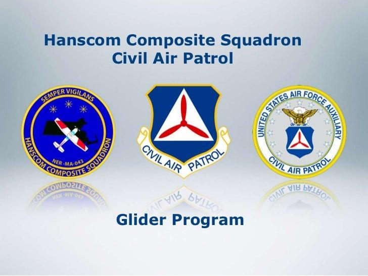Hanscom Composite Squadron      Civil Air Patrol       Glider Program